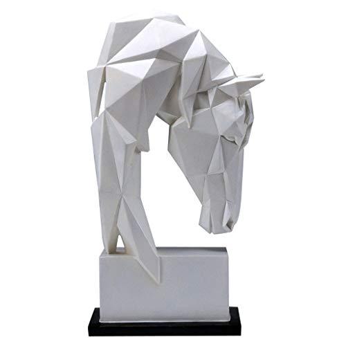 SSMDYLYM Nordic Origami Caballo Resumen Escultura Moderno Sencillez Resina Animal Geométrico Artesanías Decoración del hogar Adornos Regalo (Size : 27.5x15.5cm)