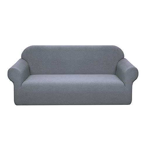 Granbest - Funda de sofá impermeable de 3 plazas con reposabrazos, revestimiento de sofá extensible jacquard para salón (3 plazas), color gris claro