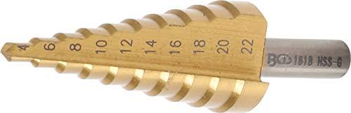 BGS 1618 | Foret étagé | nitrure de titane | Ø 4 - 22 mm