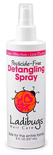 Ladibugs Lice Prevention Detangler Spray 8oz | Leave-in Conditioner & Head Lice Deterrent | Natural, Sulfate-free, Made in the USA | No More Tangles!