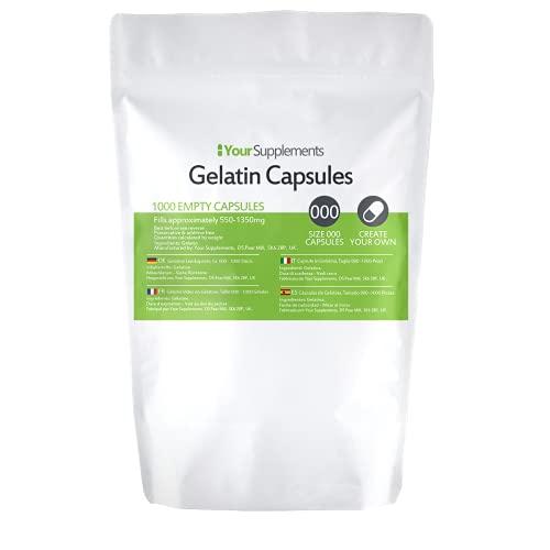 Lege gelatinecapsules   Maat 000   (1000)