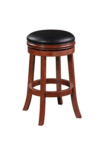 Boraam Backless Bar Height Stool, 29-Inch, Cherry