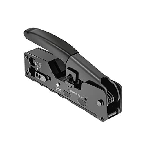 Scicalife Pelador de Cables Profesional Ethernet Crimpadora Alicates Red Cortador de Cables...