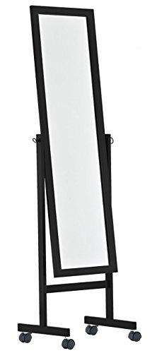 PEGANE Miroir rectangulaire en Bois Coloris Noir - 150 x 45 x 30 cm