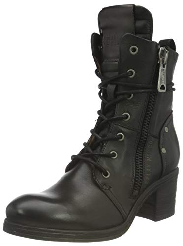 Replay Damen Heisler Mode-Stiefel, Schwarz 003 Black, 39 EU