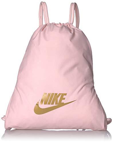 Nike Nike Heritage Gym Sack - 2.0, Echo Pink/Echo Pink/Metallic Gold, Misc