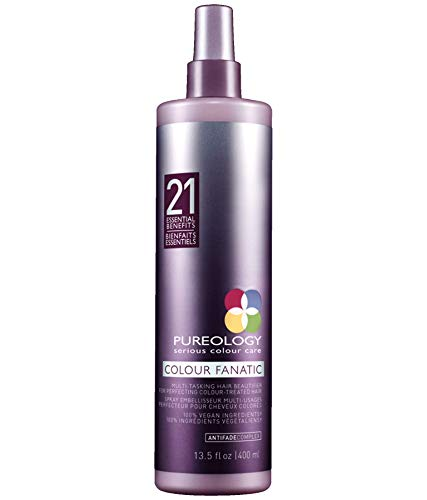 Pureology Colour Fanatic Leave-in Conditioner Hair Treatment Detangling Spray | Protects Hair Color From Fading | Heat Protectant | Vegan | 13.5 oz.