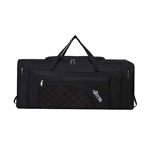 Sipobuy 80L Pieghevole Borsa Da Viaggio, Sacchetto Di Ginnastica Di Sport, Compartimento Per Scarpe, Holdal, Leggero E Impermeabile, Grande Capacità, Unisex (Black)
