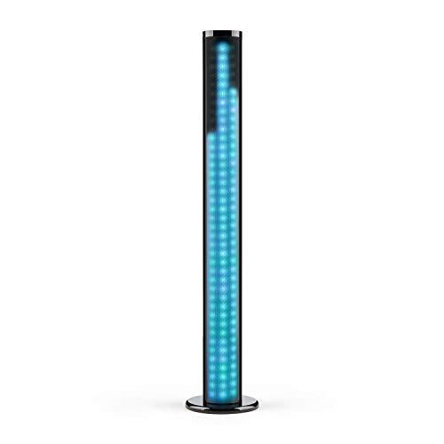 auna Light Up - Tower Speaker, Turmlautsprecher, Säulenlautsprecher, HiFi-Lautsprecher, 40 W, Bluetooth, LED-Licht, USB/SD, UKW, Halterung für Tablet und Smartphone, MP3, schwarz