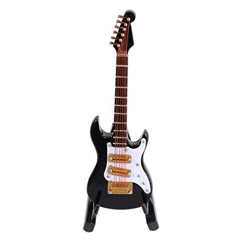 Garneck - Mini modelo de guitarra eléctrica, figura de instrumento musical, réplica modelo de casa de muñecas, cumpleaños, decoración en casa
