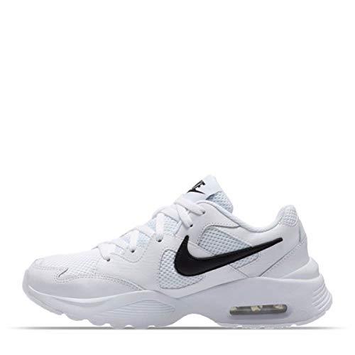 Nike Air MAX Fusion Zapatillas Moda Mujeres Blanco/Negro - 38 1/2 - Zapatillas Bajas Shoes