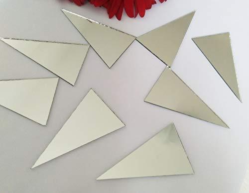 Espejos de cristal de plata de los triángulos, forma del triángulo del mosaico del espejo suministra 60PCS con el tamaño 3.5x6.3 cm
