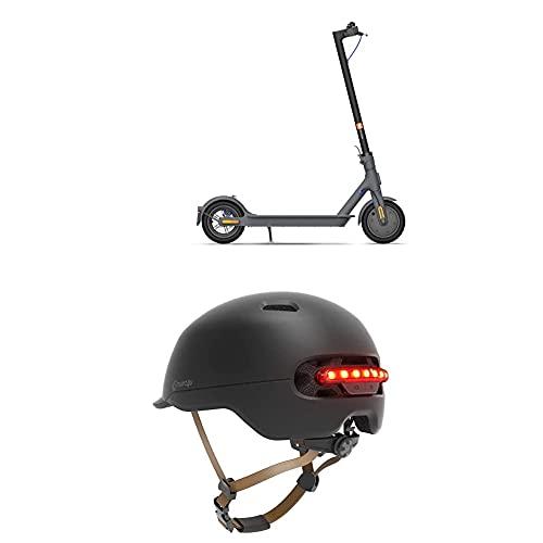 Mi Electric Scooter + SMART4U Casco SH50UL, Negro, Adultos Unisex