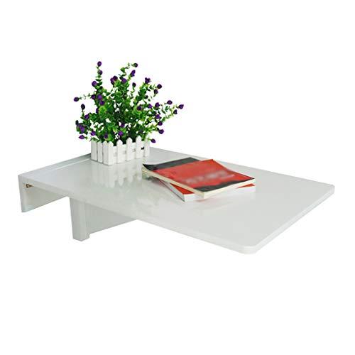An der Wand befestigter Klapptisch, weißer Wandschreibtisch für kleine Räume, hochklappbarer Tisch, stabile stabile Konstruktion Hochleistungs-Wandtisch (Größe: 45 cm × 70 cm)