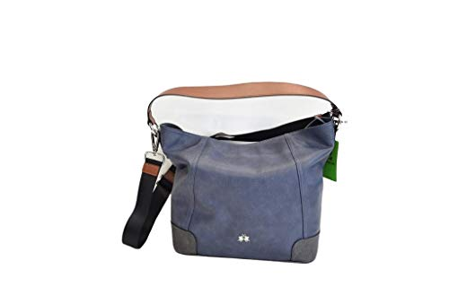 La Martina Bolso mujer cómodo bolso de hombro con correa aplicable 41W539 Size: Large
