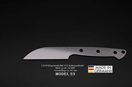 Rohling Messer Model 23 / 241mm Poliert Messerbau Messerstahl Messerklinge Klingenrohling Jagdmesser