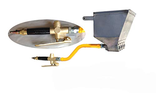 Stucco Sprayer Hopper Gun Made in The USA with Heavy Duty air Valve, Includes 2 Plugs to use with 2,3 or 4 nozzles