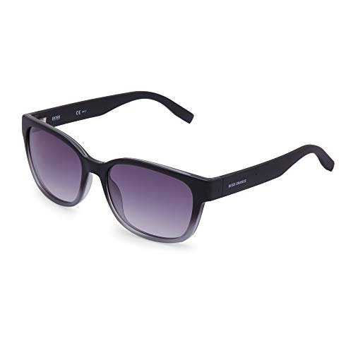 BOSS Orange 0251/S 9c Gafas de sol, Negro (BLACK GREY/DK GREY SF), 55 Unisex-Adulto