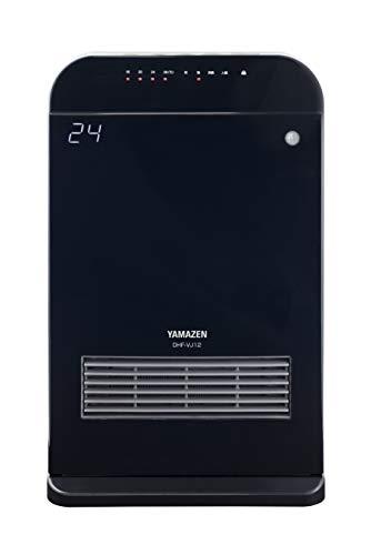 [山善]室温センサー付セラミックヒーター(温度設定4段階・センサー運転機能付)消臭フィルター付(トリプルフレッシュバイオフィルター)ブラックDHF-VJ12(B)[メーカー保証1年]