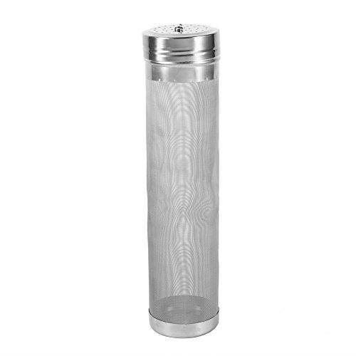Oumij Bierfilter, Hopper Filter Edelstahl Wein Hopfen Filter 300 Mikron Maschenweite Feinfilterung Filter für Haus Bierbrauen Wasserkocher Kegging,für Kaffeemühle/Filtertopf/Wasserfilter