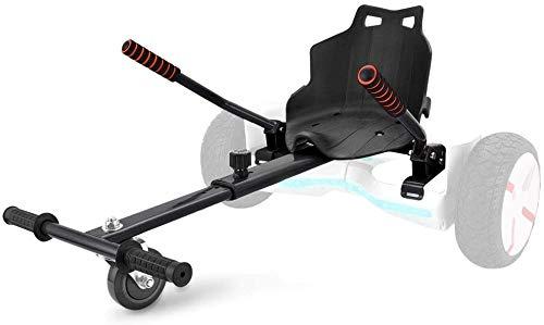 Enyaa 2018 modelo ajustable Hoverkart para 6.5 8 10 pulgadas Hoverboard Accesorios Smart Scooter eléctrico Go Karting Kart para adultos Niños último modelo más seguro (negro)