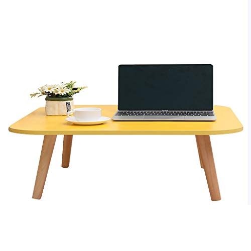 ZWJLIZI Coffee Table, Yellow Solid Wood Table with Legs, Multi-Size Living Room Coffee Table, Home Study Table/Dining Table (Size : 40X40X27CM)