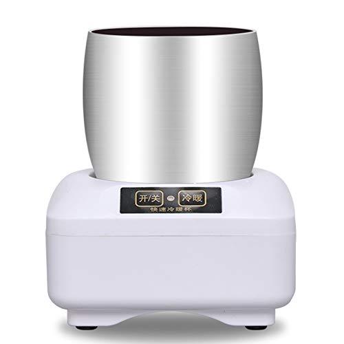 Yclty Enfriador de Copa Escritorio de Calentador de Café Mini Refrigerador Portátil Placa de Bebidas de Calefacción y Refrigeración para El Hogar (3 ℃ - 43 ℃)