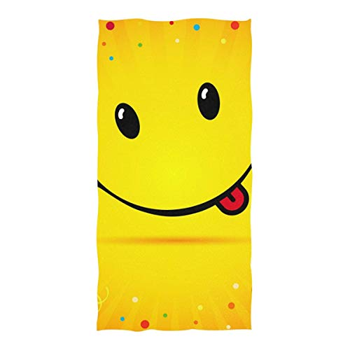 Toallas de Playa Cute Smile Emoticon Toallas de Playa Toalla de Playa de Gran tamaño Microfibra Toallas de Playa Ocean