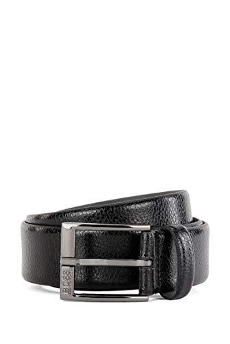 BOSS Herren Elloy Sz35 Gürtel aus geprägtem italienischem Leder mit Dornschließe