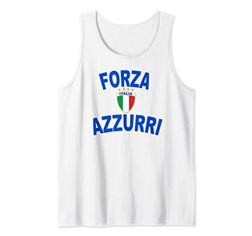 Italy Forza Azzurri Soccer Jersey Italia Flag Football Gift Tank Top