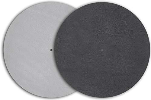 Pro-Ject estera cojín giradiscos/slipmat estera de cuero gris (gris)