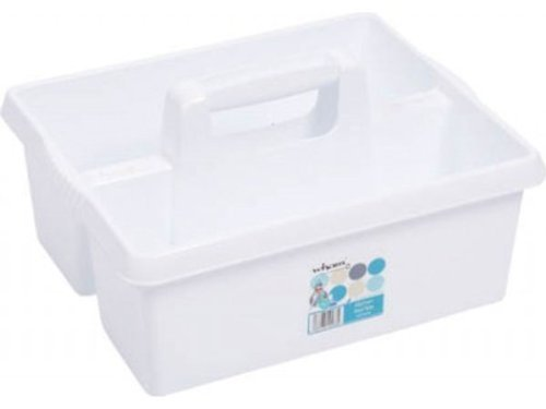 Large Plastic Tool Storage Box Carry Handle Utility DIY Organiser Cleaning Caddy
