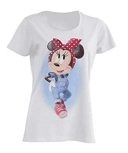 Disney Damen T-Shirt Minnie Mouse Pin-Up L