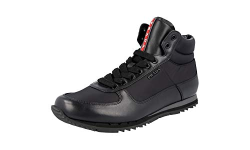 Prada Herren Schwarz Leder High-Top Sneaker 4T2782 42 EU/UK 8