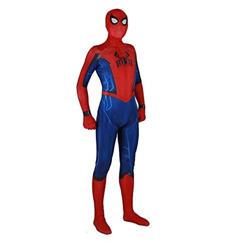 Guerra civile Spiderman Tuta Tuta Completa Cosplay Cosplay Tuta Tuta Stampe 3D Stampante 3D e bambini Supereroe Body Avengers Avengers Carnevale di Halloween ( Colore : 160-165cm , Taglia : Jumpsuit )