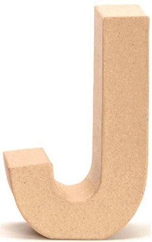 Papp-Buchstabe J 17,5x5,5cm