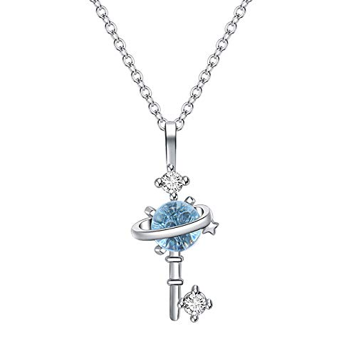 Sylar Alta joyería para Mujeres Regalos El Collar Blue Glaze Planet es el Regalo para el Mejor Amigo de Mi Novia (A)