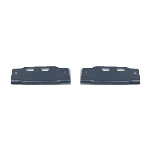 Evan-Fischer Bumper Bracket compatible with Ford F Super Duty 97 Front Right and Left Side Set of 2 Steel