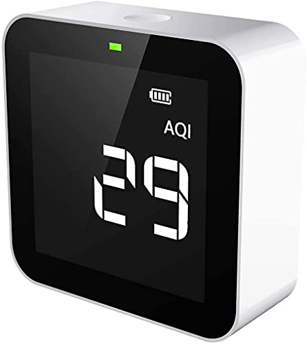 Temtop M10 Air Quality Monitor PM2.5 Formaldehyde(HCHO) TVOC AQI Real-Time Indoor Air Pollution Detector