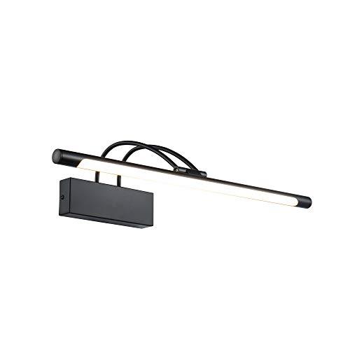 Moderne hochwertige LED-Bilderleuchte Spiegelleuchte Make-up Licht Spiegellampe schwarzer Metallrahmen Winkel 120° einstellbar für Wohnzimmer Schlafzimmer Badezimmer inkl.1x LED 800 Lm 3000K IP20