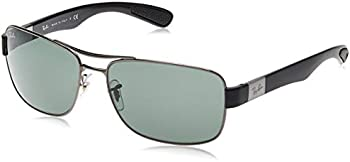 Ray BanGreen Classic Rectangular Men's Sunglasses (RB3522 004/71 64)