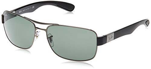 Ray-ban Mod. 3522 - Gafas de sol para hombre, color negro (gunmetal/green), talla 64