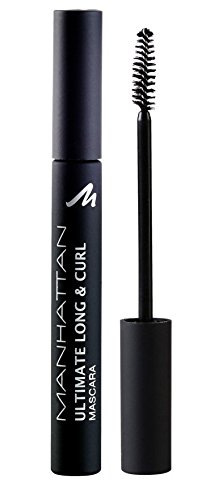 Manhattan Ultimate Long & Curl Mascara, Schwarze Wimperntusche für besonders lange und geschwungene Wimpern, Farbe Black 1010N, 1 x 6ml