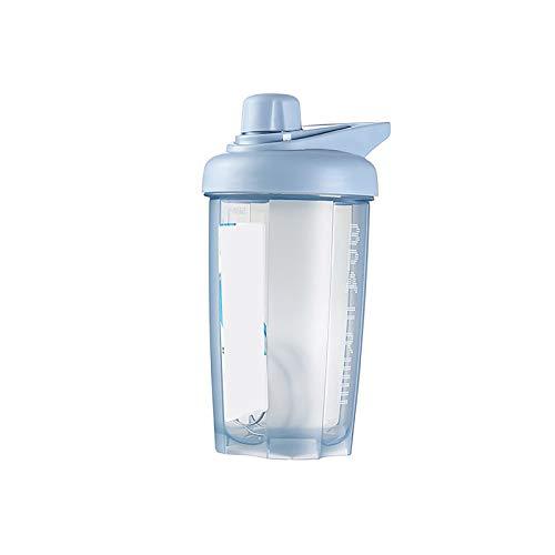 1 jarra de agua grande con mango reutilizable botella de plástico azul
