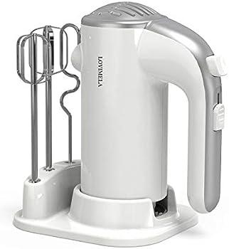 Lovimela 300W 5 Speeds Lightweight Electric Hand Mixer