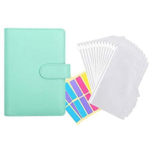 Nrpfell 12 unidades de encuadernación de plástico transparente A6, impermeable, sistema de sobres, con etiquetas D