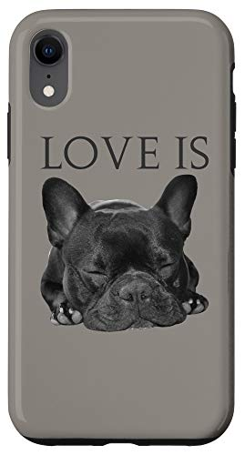 iPhone XR Love French Bulldog Gifts Frenchie Mom Dad Valentines Phone Case