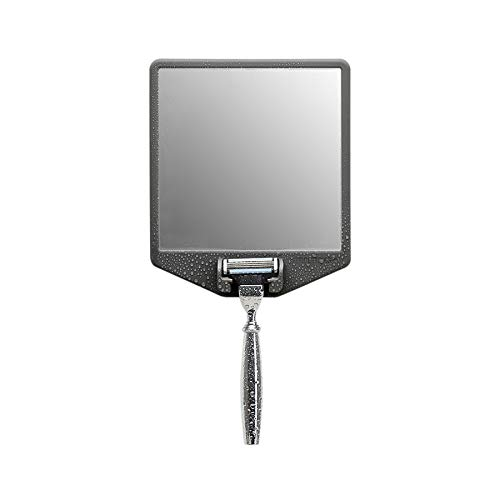 Tooletries – The Joseph  Silicone Waterproof Fogless Shower Mirror and Razor Holder 2in1 Designed for Shaving in The Shower Removable amp Reusable Grips to Shiny Surfaces Glass Mirror Charcoal