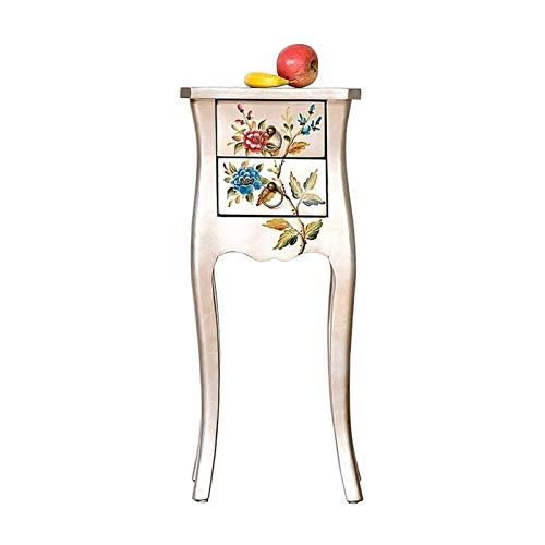 ZXNRTU Diseño Simple Mesa de la Vendimia Mini Dormitorio Fin Estilo Rústico Tabla Sofá gabinete Lateral Mesilla de Noche de Madera Maciza Tabla Pintada Side Side taquillas Armarios Mano