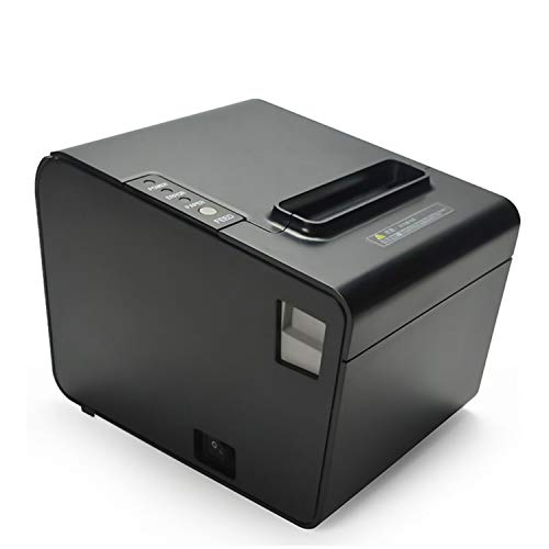 Impresora de tickets para POS 80mm, Meihengtong Impresora térmica de recibos, impresora Meihengtong Pos de alta velocidad con cortador automático compatible con Windows Cash Drawer (P80B(USB Version))